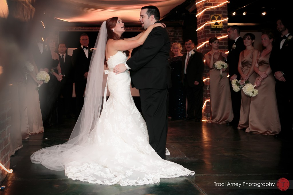 Bride and groom's first dance in Millennium Center in Winston-Salem, NC