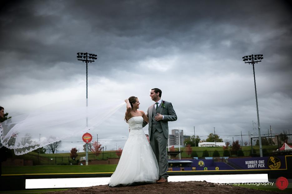 047-©2015-Traci-Arney-Photography-337-baseball-wedding-BBandT-Stadium-Winston-Salem-NC